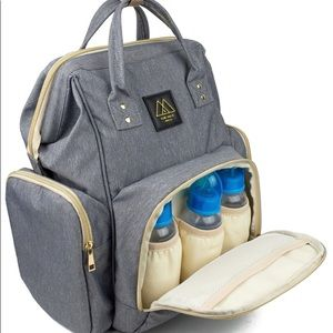 Handbags - Brand new gray diaper backpack